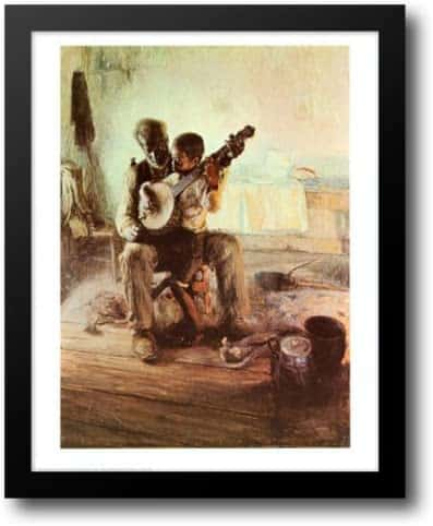 Banjo Lesson by Henry Ossawa Tanner Framed Painting