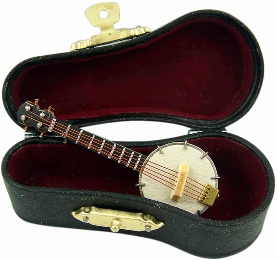 Miniature Banjo with case