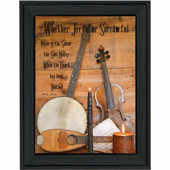 Music Instrument Picture Frame Graphic Art Print on Paper